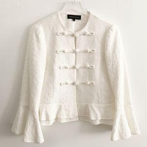 nanette lepore • ivory cheongsam knot front jacket